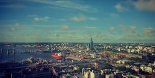 Montevideo-Hafen ` s Ansicht Stockbild