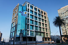 Montevideo Modern Building Uruguay Stock Photos