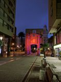 Montevideo nocy spacer zdjęcie stock
