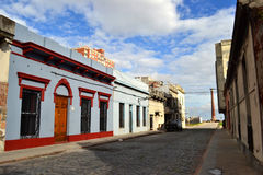 Montevideo old city street stock photography