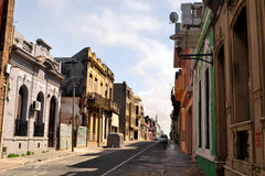 Montevideo old city. Street in the old city of Montevideo, Uruguay Royalty Free Stock Images
