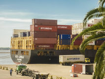 Montevideo reklamy port Fotografia Royalty Free