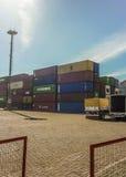 Montevideo reklamy port Zdjęcie Royalty Free