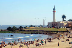 Montevideo seaside beach in summer royalty free stock photo