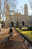 Montevideo. Square and cathedral in Montevideo, Uruguay. Touristic place Royalty Free Stock Photos