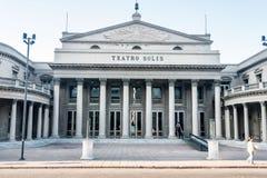Montevideo Teatro Solis royalty-vrije stock foto's