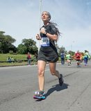 MONTEVIDEO, URUGUAY – SEPTEMBER 24, 2017: runner in the Global Energy race. Stock Photos