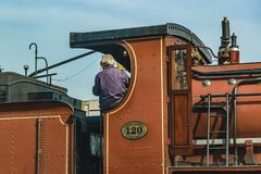 Old Train in Motion Royalty Free Stock Images