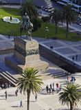 Montevideo. Uruguay, Montevideo, Elevated view of the Independence Square Stock Images