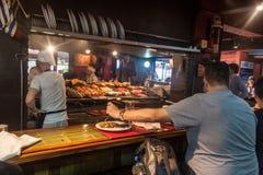 Barbecue in Mercado del Puerto in Montevideo royalty free stock photos