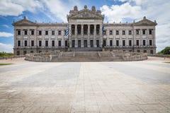 MONTEVIDEO, URUGUAY - 4 FEBBRAIO 2018: Palacio Legislativo i Fotografia Stock Libera da Diritti