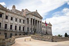 MONTEVIDEO, URUGUAY - 4 FEBBRAIO 2018: Palacio Legislativo i Immagine Stock Libera da Diritti