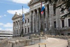 MONTEVIDEO, URUGUAY - 4 FEBBRAIO 2018: Palacio Legislativo i Immagini Stock Libere da Diritti
