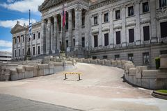 MONTEVIDEO, URUGUAY - 4 FEBBRAIO 2018: Palacio Legislativo i Immagini Stock