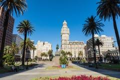 MONTEVIDEO, URUGUAY - FEBRUARY 03,, 2018: Palacio Salvo in the c. Enter of the city of Montevideo, Uruguay Stock Image