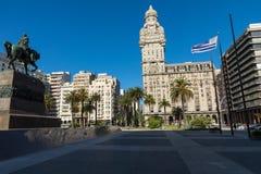 MONTEVIDEO, URUGUAY - FEBRUARY 03,, 2018: Palacio Salvo in the c. Enter of the city of Montevideo, Uruguay Stock Photos