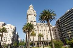 MONTEVIDEO, URUGUAY - FEBRUARY 03,, 2018: Palacio Salvo in the c. Enter of the city of Montevideo, Uruguay Royalty Free Stock Images