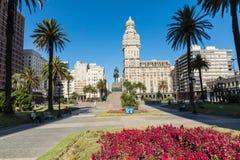 MONTEVIDEO, URUGUAY - FEBRUARY 03,, 2018: Palacio Salvo in the c. Enter of the city of Montevideo, Uruguay Royalty Free Stock Photography