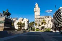 MONTEVIDEO, URUGUAY - FEBRUARY 03,, 2018: Palacio Salvo in the c. Enter of the city of Montevideo, Uruguay Stock Photography
