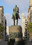 Montevideo. Uruguay, Montevideo, View of the Jose Artigas Monument on the Plaza IndependenciaIndependence Square Royalty Free Stock Photography