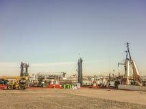Montevideo-Werbungs-Hafen Lizenzfreie Stockbilder