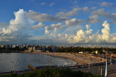 Montevideovästkusten och Ramirez strand Royaltyfria Foton
