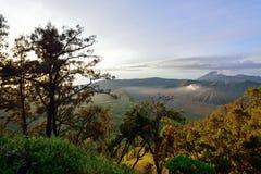 Montez Bromo, un volcan actif dans Java-Orientale Images libres de droits