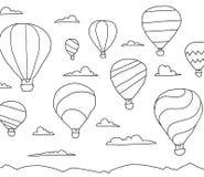 Montez en ballon l'aérostat unpowered d'aéronautique d'air chaud dans le ciel Vol sur un ballon dans les nuages Imagination et su Photos stock