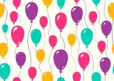 Montez en ballon le fond sans couture pour le concept de modèle de fête d'anniversaire d'anniversaire de couleur Image libre de droits