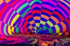 Montez en ballon, vue intérieure d'un ballon à air chaud Photographie stock