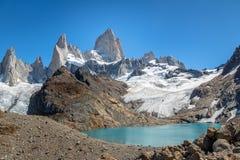 Montez Fitz Roy et Laguna de Los Tres dans le Patagonia - EL Chalten, Argentine photo libre de droits