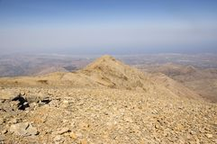 Montez IDA, Idha, Idhi, AIE, Psiloritis est la plus haute montagne sur Crète en montagnes d'IDI Photographie stock