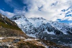 Montez Sefton et glacier de Mueller comme vu de image stock