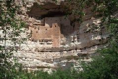 Montezuma城堡印第安废墟, AZ 免版税库存照片