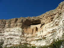 Montezuma城堡国家历史文物在亚利桑那 图库摄影
