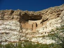 Montezuma城堡国家历史文物在亚利桑那 免版税库存图片