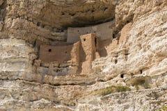 Montezuma城堡窑洞 库存图片