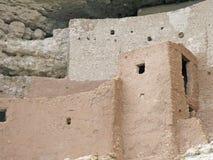 Montezuma castle. Historic Indian dwelling in rocks near Camp Verde, Arizona, United States royalty free stock images
