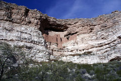 Montezuma Castle National Monument. Ruins of indian cliffdwellings in Campe Verde, Arizona stock image
