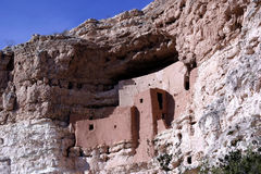 Montezuma Castle National Monument. Ruins of indian cliffdwellings in Campe Verde, Arizona stock photography