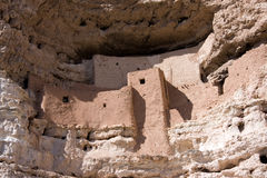 Montezuma Castle National Monument. This 20 room high-rise apartment, nestled into a towering limestone cliff, tells a 1,000 year-old story of ingenuity and royalty free stock photography