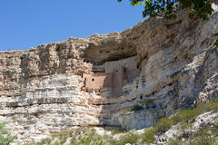 Montezuma Castle National Monument Arizona. Montezuma Castle National Monument, located in central Arizona, is an ancient Pueblo Indian cliff dwelling and is Royalty Free Stock Photo