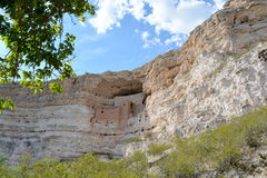 Montezuma Castle National Monument. Near Camp Verde, Arizona, USA. Well-preserved cliff dwelling of the Sinagua Stock Image