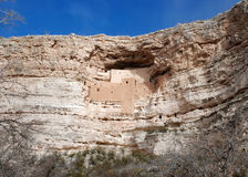Montezuma Castle: view from a distance Royalty Free Stock Photography