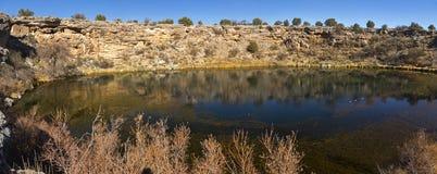 Montezuma goed Natuurlijk Sinkhole Panoramisch Landschap Arizona de V.S. stock foto