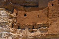 Montezuma's Castle. A closer shot of one of the Dwellings at Montezuma's Castle in Arizona stock images