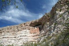 Montezuma's Castle Arizona. Montezuma's Castle carved into an escarpment in Arizona Royalty Free Stock Photography