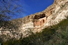 Montezuma's castle horizontal. Cliff dwelling in Montezuma Castle National Monument royalty free stock photo
