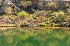 Montezuma wohles Wüstenpool Lizenzfreie Stockfotografie