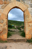 城堡以色列montfort废墟 免版税库存图片